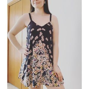 Trafaluc by Zara | Black Floral Mini Dress | Sz S